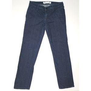 Hudson dark wash signiture/bootcut low rise jeans